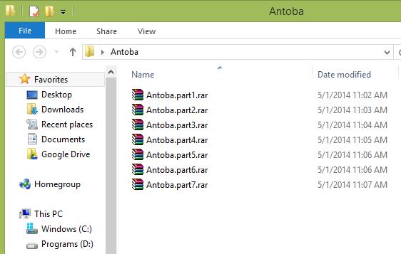 دانلود فایل های آنتوبا